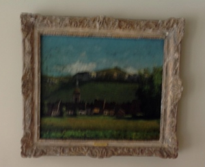 Photograph of subject property painting Ville d'Ornans